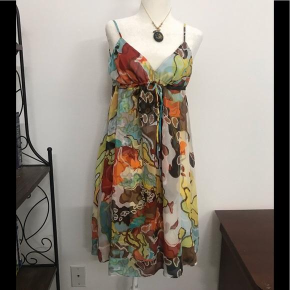 Diane Von Furstenberg Dresses & Skirts - Diane Von Furstenberg silk shirt Sundress